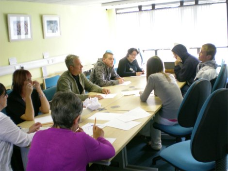 Creative workshop session at the Cornwall Records Office