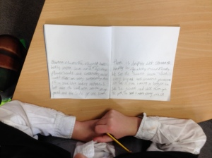 writing workshops with yr 4/5's